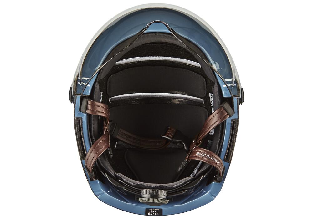 Kask lifestyle casco per bici visiera incl blu su for Casco bici citta