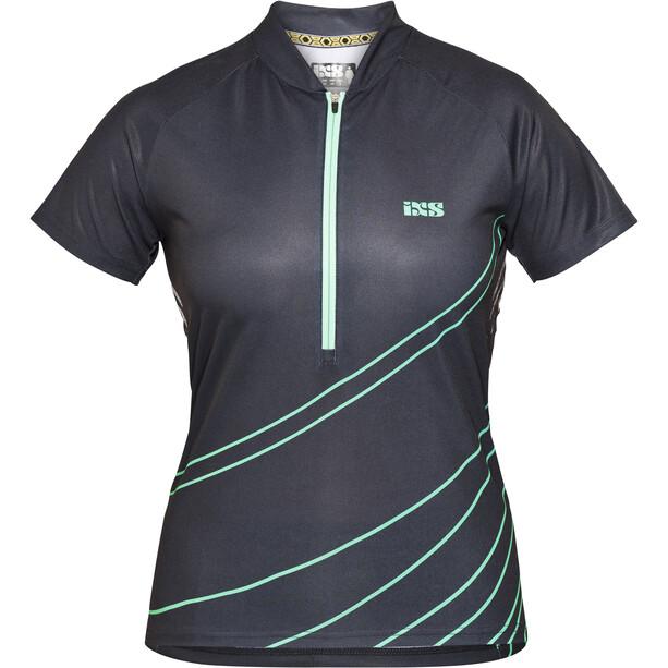 IXS Trail 6.2 Trikot Damen black/turquoise