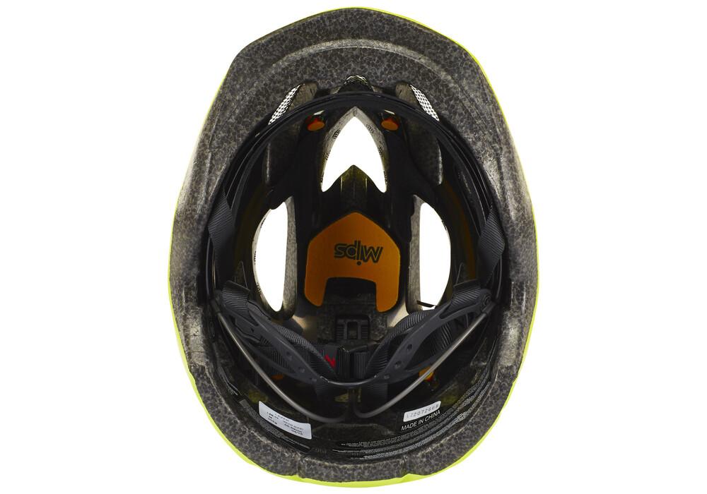 Lazer beam casco per bici mips giallo su for Casco bici citta