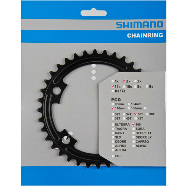 Shimano 105 FC-5800 Chainring MB 110mm black