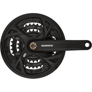 Shimano FC-M371 Krank Trekking firkant 9-speed 48-36-26 tænder, sort sort