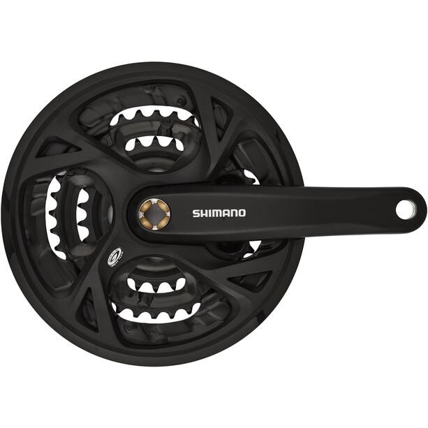 Shimano FC-M371 Veivsett Trekking firkant 9-gir 48-36-26 tenner Svart