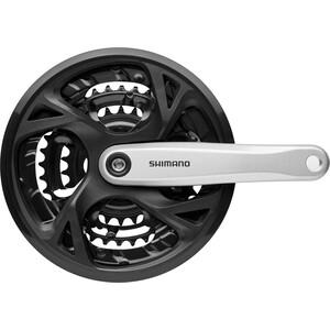 Shimano FC-M371 Kurbelgarnitur Trekking Vierkant 9-fach 48-36-26 Zähne silber silber