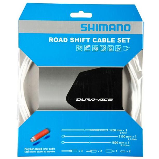 Shimano Road Schaltzug Set polymerbeschichtet weiß