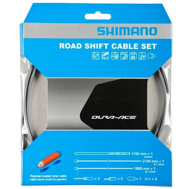 Shimano Road Schaltzug Set polymerbeschichtet grau