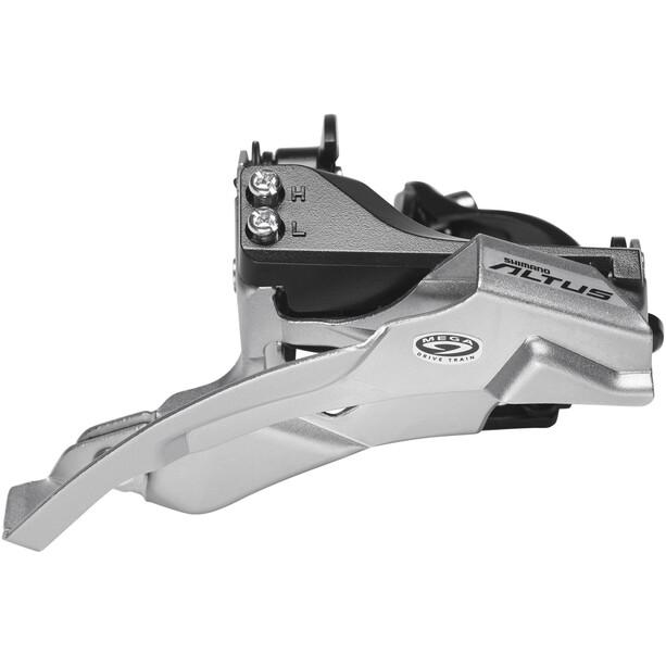 Shimano Altus FD-M370 Frontgir 3x9-gir klemme, Dual-Pull Svart/sølv