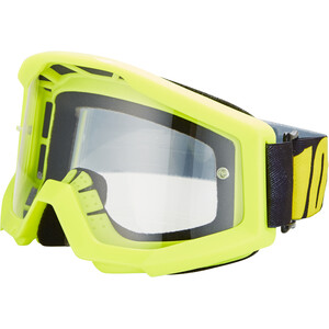 100% Strata Goggles neon yellow/anti fog clear neon yellow/anti fog clear