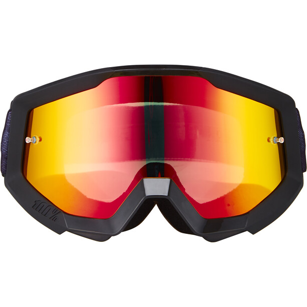 100% Strata Goggles slash-mirror