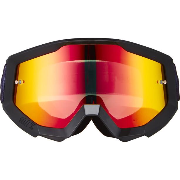 100% Strata Goggles slash-mirror