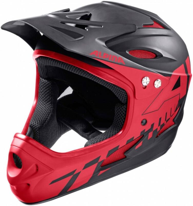 Alpina Fullface Helmet black-red 61 cm 2018 Fahrradhelme