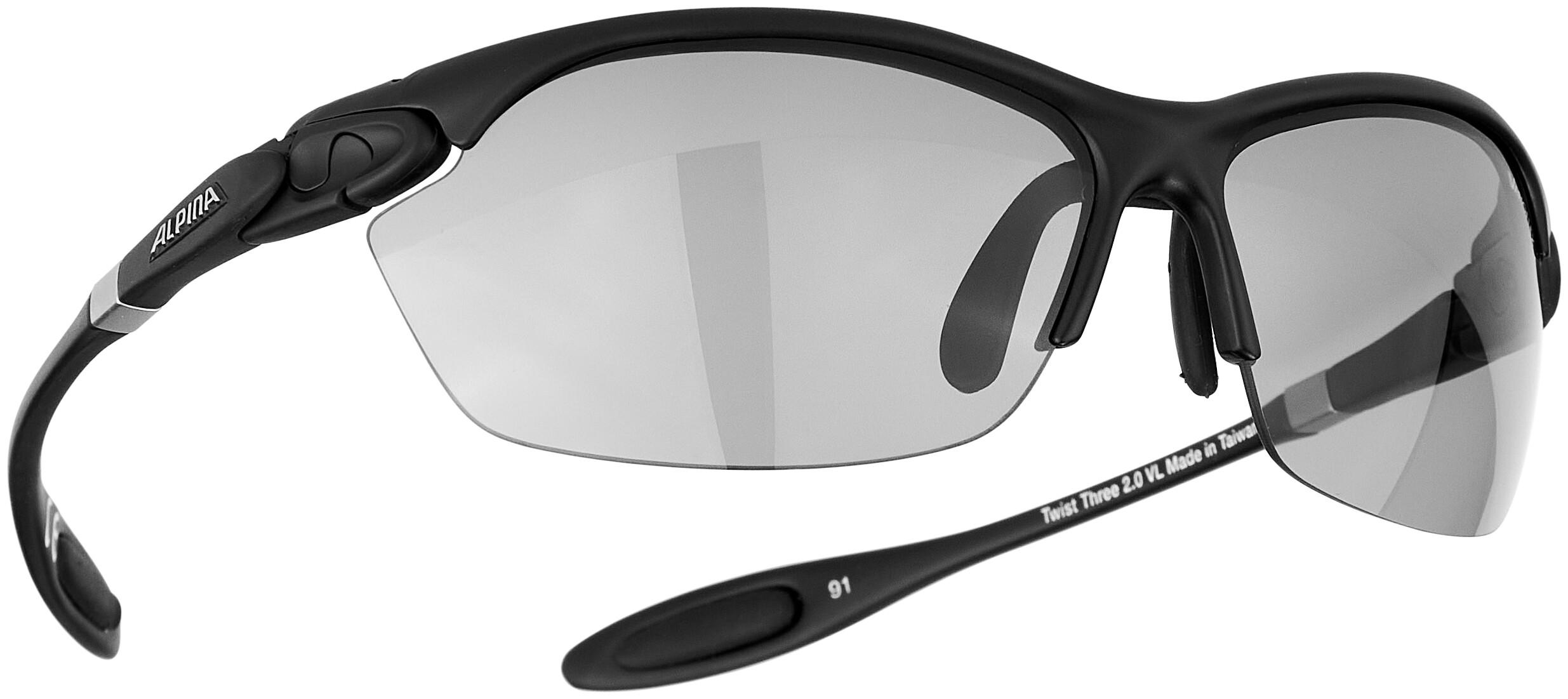 ALPINA Lunettes sport vélo//bikebrille Ceramic-matériau LYRON HR Noir Gris