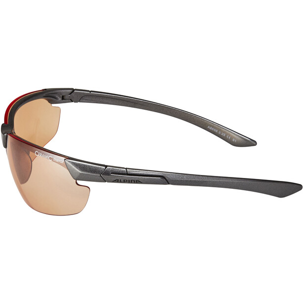 Alpina Draff Glasses anthracite/orange mirror