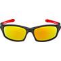UVEX Sportstyle 507 Brille Kinder black mat red/red