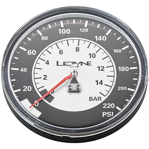 Lezyne Manometer 3-5 220PSI för alla golvpumpar black/silver