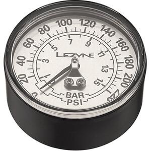 """Lezyne Manometer 2-5"""" 220PSI für alle Standpumpen schwarz/silber schwarz/silber"""