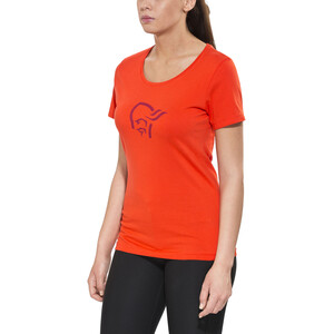 Norrøna /29 cotton logo T-Shirt Damen hot chili hot chili