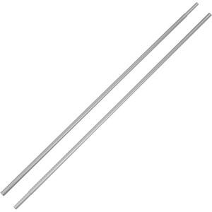 CAMPZ Bogenstab Aluminium mit Hülse 9,5mm 2er Set silber silber