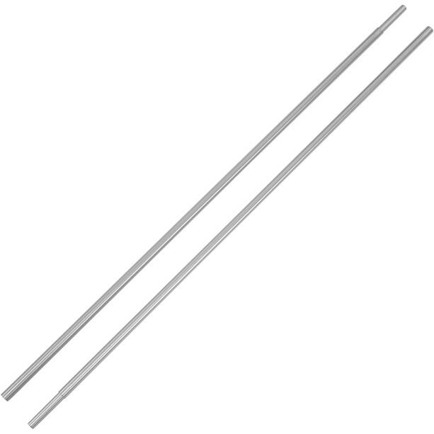 CAMPZ Bogenstab Aluminium mit Hülse 9,5mm 2er Set silber