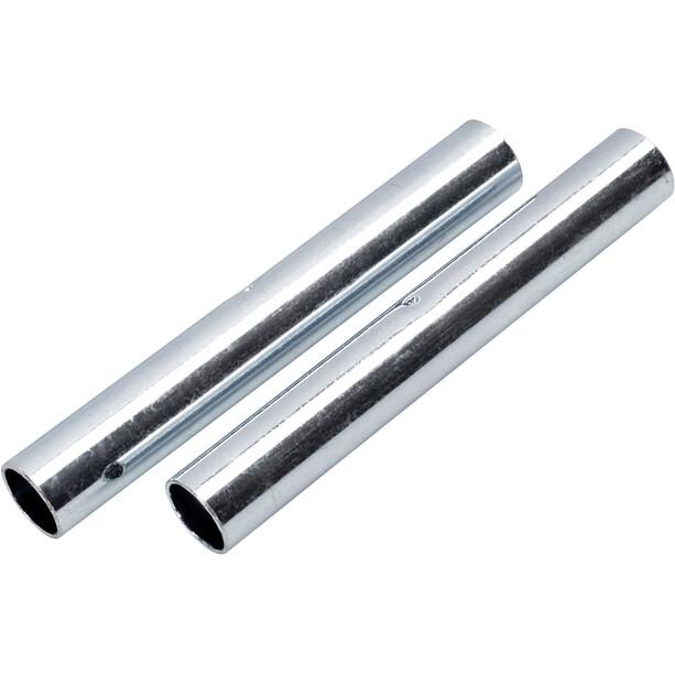 CAMPZ Hülse für Glasfaserstab 9mm 2er Set silber