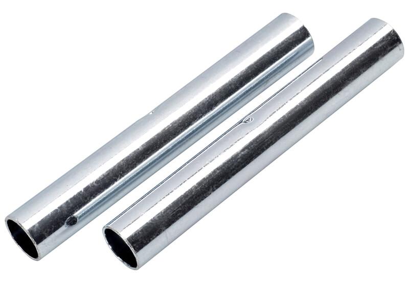CAMPZ Hülse Glasfaserstab 9mm 2er Set silber Zeltstangen Zubehör Z59106S