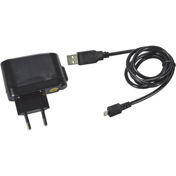 Busch + Müller Ixon Fyre Akku Scheinwerfer mit USB Netzteil schwarz-silber