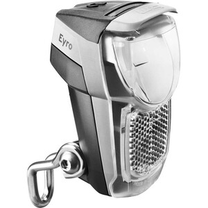 Busch + Müller Lumotec IQ Eyro Battery Front Light for fork mounting, noir/argent noir/argent
