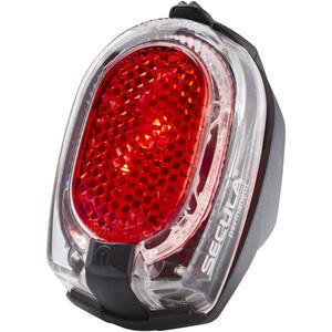 Busch + Müller Secula Batterie-Rücklicht permanent für Schutzblechmontage schwarz/rot schwarz/rot