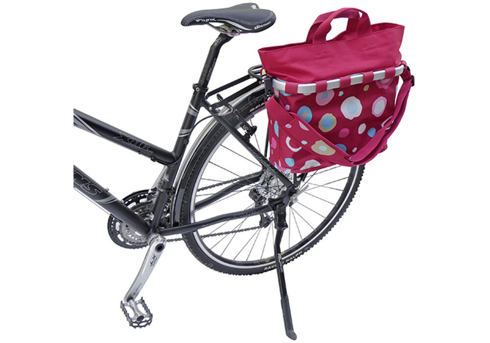 klickfix reisenthel bikebasket oval m funky dots 2 g nstig kaufen bei. Black Bedroom Furniture Sets. Home Design Ideas