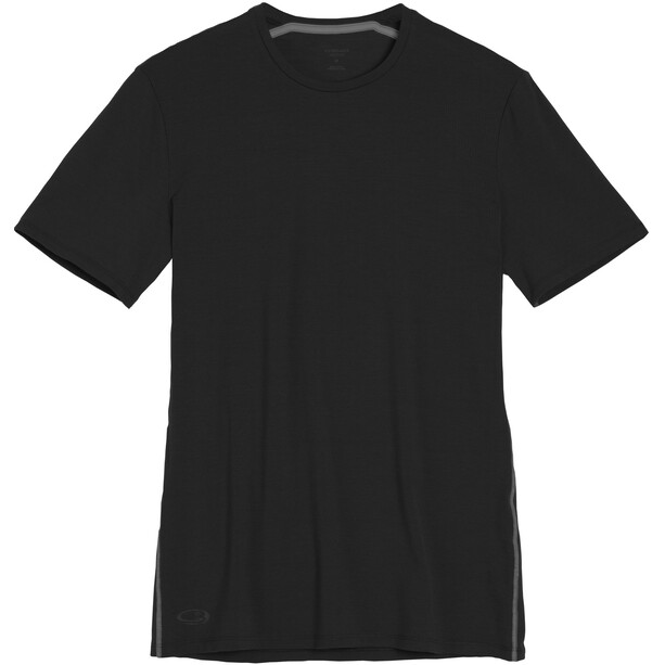 Icebreaker Anatomica SS Crewe Shirt Herr black/monsoon