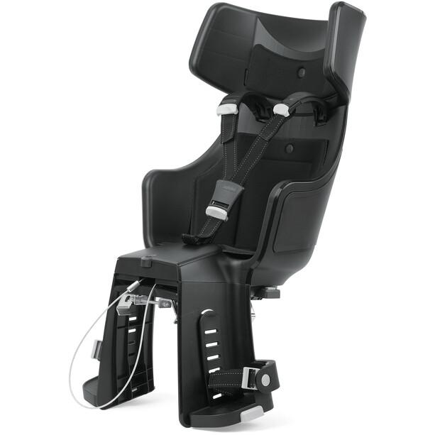bobike Exclusive Tour Maxi Kindersitz inkl. 1P-Bügel und Gepäckträgerhalterung urban black