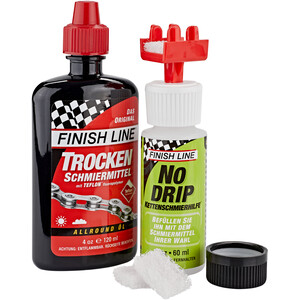 Finish Line No Drip Chain Luber Combo Dry Lube