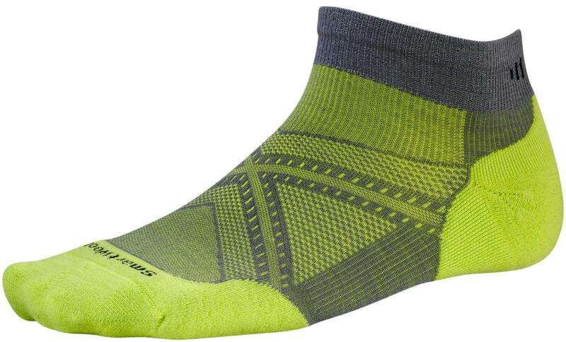 Smartwool PhD Run Light Elite Low Cut Socks Graphite/SmartWool Green 46-49 2019