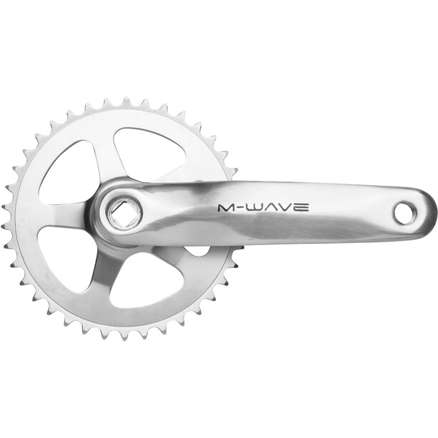 M-Wave Crankset 1 vitesse 38 dents alu/acier, argent