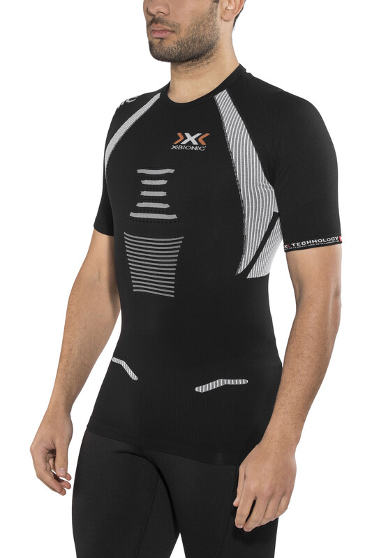 X-Bionic The Trick Running Shirt SS Men Black/White XXL 2018 Kompressionsshirts