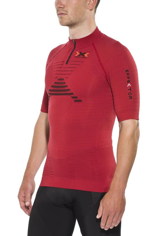 X-Bionic Trail Running Effektor Shirt Short Sleeves Zip-Up Men Paprika/Black S 2018 Kompressionsshirts