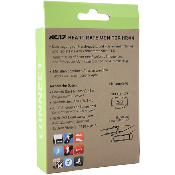NC-17 Connect HR4 Heart Rate Belt ANT+ and Bluetooth 4.0