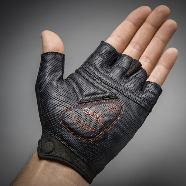 GripGrab ProGel Gepolsterte Kurzfinger-Handschuhe red