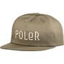 POLER Fur Font Snapback Cap braun