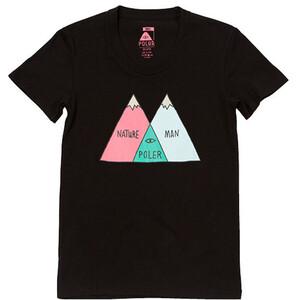 POLER Venn Camiseta Mujer, negro negro