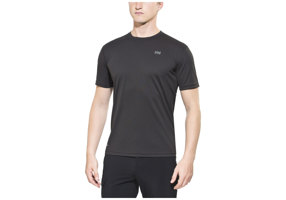 helly hansen training t shirt manches courtes homme noir sur. Black Bedroom Furniture Sets. Home Design Ideas