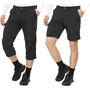 Maier Sports Saale Pantalon convertible avec fermeture éclair Homme, noir