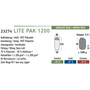 High Peak Lite Pak 1200 Schlafsack links anthrazit/blau