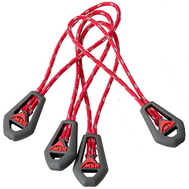 MSR Zipper Pulls 4 Pack red