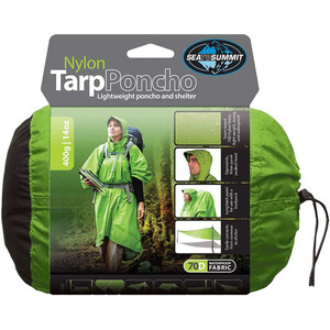 Sea to Summit Nylon Tarp Poncho Waterproof green green