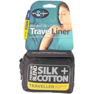 Sea to Summit Silk/Cotton Blend reiselinje Puteinnsats Blå Blå