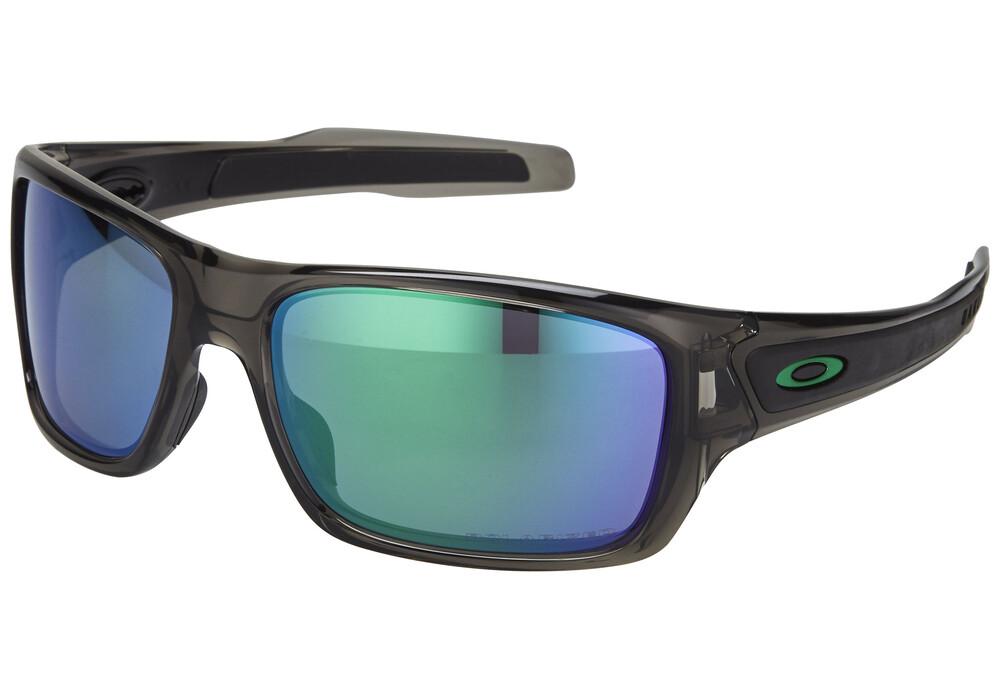 7e54d55add Oakley Polarized Turbine Sunglasses Grey Smoke Jade Iridium