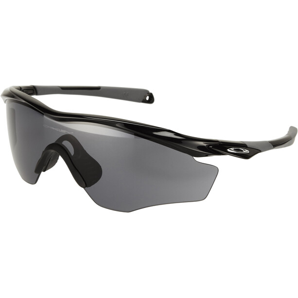 Oakley M2 Frame XL Sonnenbrille polished black/grey
