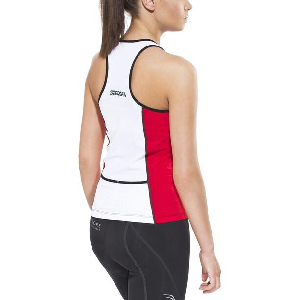 Profile Design ID Tri Top Damen red/white