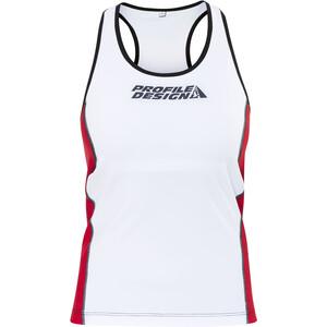 Profile Design ID Tri Top Damen weiß/rot weiß/rot