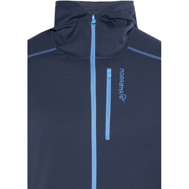 Norrøna Trollveggen Warm/Wool1 Zip Hoodie Herr indigo night